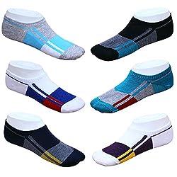 Blinkin Unisex Loafer Socks, Low Cut Foot Cover Socks, Ankle Socks (6 Pairs)