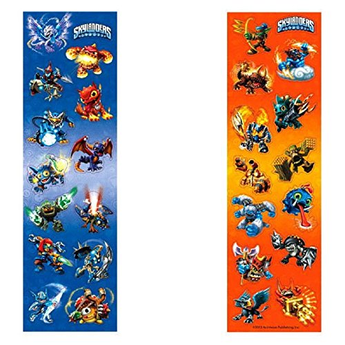 "Amscan Skylanders Sticker Strips Birthday Party Favor, 6-5/16 x 1-7/8"", Blue/Orange"