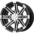 """G-FX Double Barrel Gloss Black Wheel with Machined Face (12x7""""/4x156mm)"""