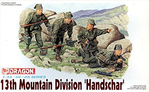 "Dragon 1:35 WWII 13th Mountain Division ""Handschar"" Figure Kit #6067"