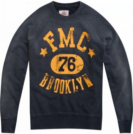 FRANKLIN AND MARSHALL Felpa uomo navy girocollo vintage Franklin marshall M