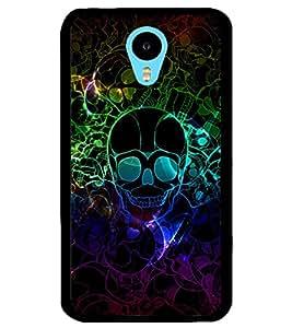 ColourCraft Skull Image Design Back Case Cover for MEIZU M1 NOTE