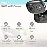 Wansview 1080P WiFi Wireless IP Security Camera System with Two-Way Audio and Night Vision,Baby/Nanny/Pet Monitor,Temperature and Humidity Sensor K1(Black)