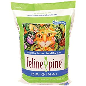 Feline Pine Original Cat Litter, 20-Pound Bag $8.32