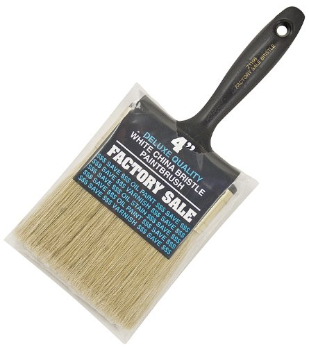 Wooster Brush Z1196-4 Factory Sale White Bristle Paintbrush, 4-Inch