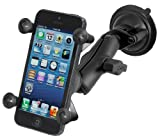 Ram Mount Twist Lock Suction Cup Mount with Universal X-Grip Cell/iPhone Holder - Non-Retail Packaging - Black