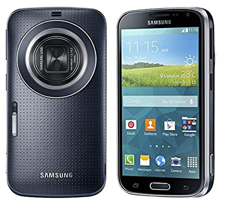 "Samsung Galaxy K Zoom (S5 Zoom) SM-C115 16GB Smartphone débloqué (4,8"" Super AMOLED, 20,7 mégapixels, Zoom optique 10x, Android 4.4 Kitkat), Noir [Asia Version]"