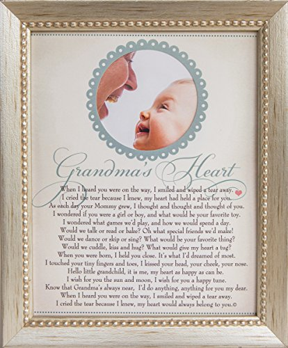 The Grandparent Gift Co. Heart Collection 8x10 Frame, Grandma's Heart