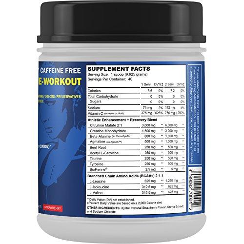 Natural Stimulant Free Pre Workout