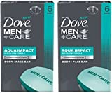 Dove Bar Soap, Men+care, Aqua Impact, 4 Oz Bars, 6 Bars Per Pack (Pack of 2)...