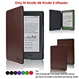 Kindle Case- ACcover Amazon Kindle 5 & Kindle 4 Protective Case - Ultra Slim PU Leather Cover Case for Amazon Kindle 4 / Kindle 5 With Magnet Closure (Only fit kindle 4,not fit kindle 7th Generation Or kindle paperwhite/kindle touch) - Brown