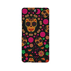 Ebby Crazy Abstract Skull Premium Printed Case For Micromax Canvas Juice 3 Q392