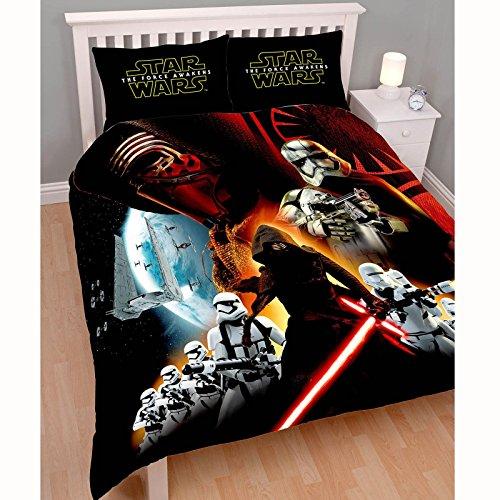 Star Wars - Set copripiumino e federe copricuscino per letto matrimoniale, tema: Star Wars: Il risveglio della Forza