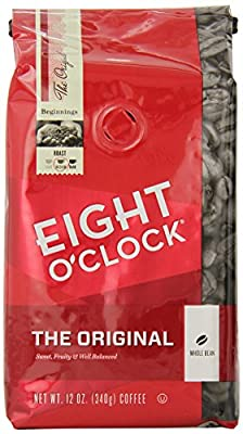 Eight O'Clock The Original Whole Bean Coffee, 12-Ounce Bag (Pack of 6)