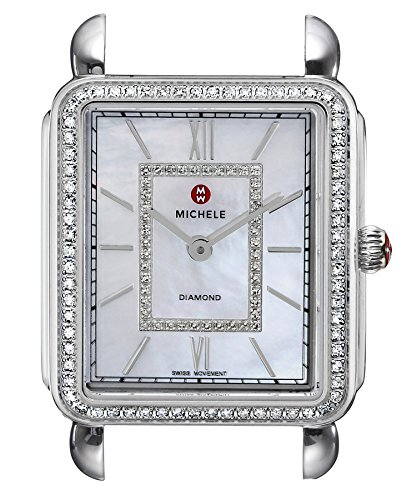 MICHELE-Womens-MW06X01A1963-Deco-II-Analog-Display-Swiss-Quartz-Silver-Watch-Head
