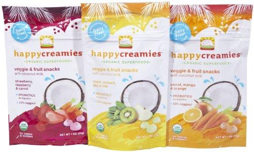 Happy Baby happy creamies Veggie & Fruit Snacks Variety 3 Pack - 1