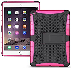 Heartly Flip Kick Stand Hard Dual Armor Hybrid Bumper Back Case Cover For Apple iPad Mini Tablet 1st Generation - Pink