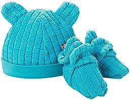 Zutano Baby Boys\' Cozie Fleece Hat and Bootie Set (Baby) - Pool - 6 Months