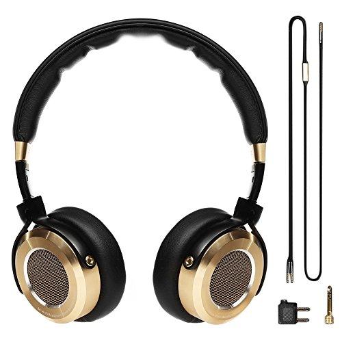 XIAOMI ヘッドホン Hi-Fi ヘッドセット ステレオ3Dサウンド 折りたたみ式 ブラック×ゴールド