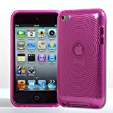 BPM Pink Protective Armour Silicone Gel Case & screen Protector for Apple iPod Touch 4th Generation 4 4g 8gb 32gb 64gb