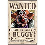 "AbyStyle - Poster - One Piece ""Wanted Buggy"" 52x38cm - 0583215030043"
