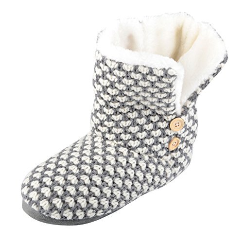 womens-liana-knitted-slipper-boots-winter-cosy-faux-fur-lining-grey-size-uk-6
