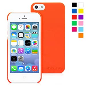 Snugg iPhone 5 / 5S Ultra Thin Case in Orange - High Quality Slim Profile Non Slip, Protective and Soft to touch for Apple iPhone 5 / 5S