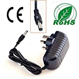 Volans 2 meter long lead UK plug 12V 2A Yamaha PSR-175 , PSS-170, PSR-75, EZ-220, PSR-E223 replacements power supply adaptors