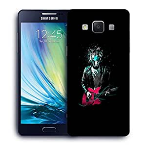Snoogg Man Without Face Playing Guitar Designer Protective Back Case Cover For SAMSUNG A5