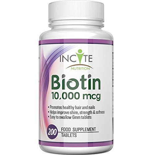 Biotin-Hair-Growth-Vitamins-10000MCG-200-6mm-Tablets-MONEY-BACK-GUARANTEE-UK-Made-BUY-2-GET-FREE-UK-DELIVERY-6-Month-Supply-Best-Supplements-for-Hair-Loss-Best-Beauty-Treatment-for-Men-and-Women-Incit