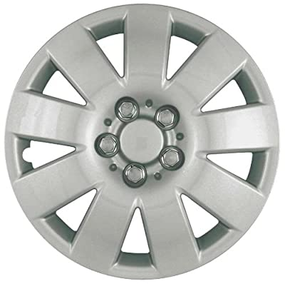 CCI IWC410-15S 15 Inch Clip On Silver Finish Hubcaps - Pack of 4
