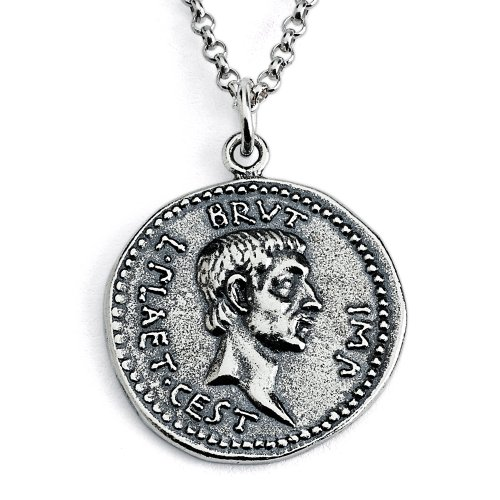 925-sterling-silver-replica-brutus-roman-coin-pendant-necklace-12-inches