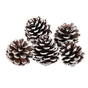 9pcs pomme de pin d coration suspendre pour sapin de for Decoration de noel amazon