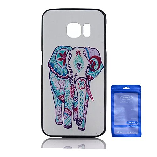 Galaxy S6 Edge Case, Creative Artistry Customized Funny PC Hard Back Cover Case for Samsung Galaxy SVI Edge (Colorful Elephant)