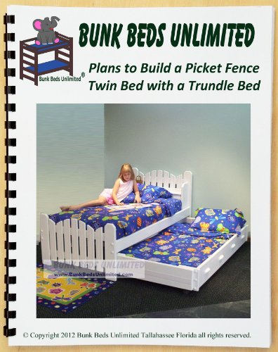 """Trundle Bed Woodworking Plan (Not A Bed) To Build Your Own Picket Fence Model """"Pea Patch"""" front-1065462"""