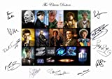 DR WHO THE ELEVEN DOCTORS SIGNED A4 PHOTOGRAPH (DOCTOR WHO - DAVID TENNANT - MATT SMITH - TOM BAKER JON PERTWEE) SIGNED BY ALL 11 DOCTORS