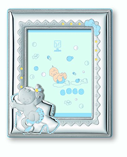 "Silver Touch USA Sterling Silver Picture Frame Nap Time, Blue, 5"" x 7"""