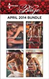 Harlequin Blaze April 2014 Bundle: A SEALs Kiss\Nothing to Hide\Breakaway\The Mighty Quinns: Malcolm