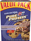 Pure Protein Chewy Chocolate Chip Value Pack, 6-1.76 oz. Bars (Pack of 2)