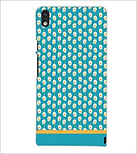 PrintDhaba Floral Pattern D-1892 Back Case Cover for HUAWEI ASCEND P6 (Multi-Coloured)