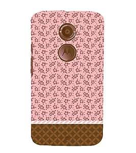 Flower Chevron Pink Cute Fashion 3D Hard Polycarbonate Designer Back Case Cover for Motorola Moto X2 :: Motorola Moto X (2nd Gen) :: Motorola Moto X 2014 :: Motorola Moto X+1