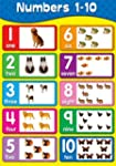 Numbers 1-10 Animal Poster Wall Art F...