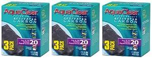 Aquaclear Activated Carbon Insert, 20-Gallon Aquariums, 3-Pack (3-Pack)