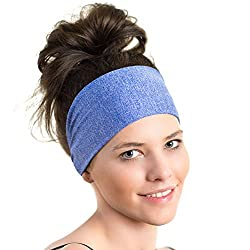 Lightweight Sports Headband - Moisture Wicking Sweatband - Ideal for Running, Biking and Athletic workouts - Designed for Women Borrowed by Men from Red Dust Active