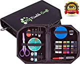Professional Sewing Kit - Retractable Tape Measure & Premium Sewing Supplies - Excellent Sewing Starter Kit For Kids, Students, Adults & Beginners - Perfect for Home, College, Travel, Camping & Emergency Essentials