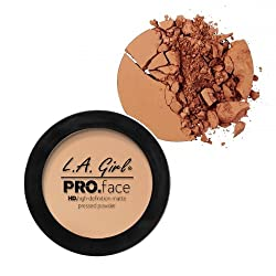 L A Girl HD Pro Face Pressed Powder, Warm Carmel, 7g