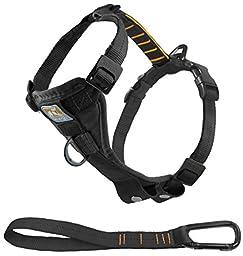 Kurgo Tru-Fit Smart Dog Harness, Black, Extra Large - Lifetime Warranty