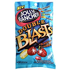 Jolly Rancher Double Blasts Candies, 5-Ounce Bag (Pack of 12)