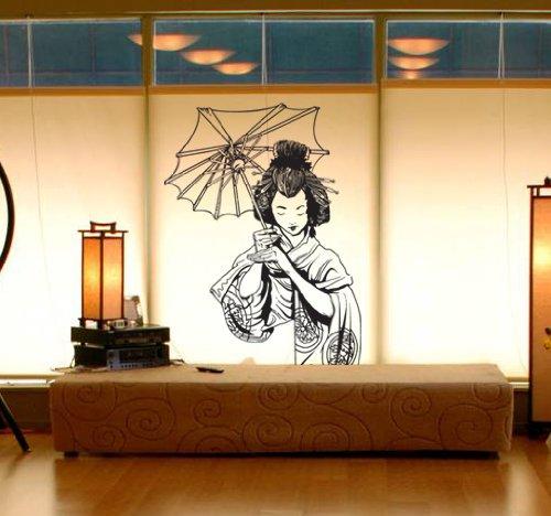 How To Get Vinyl Wall Art Decal Sticker Japanese Geisha 20 X32 Asian