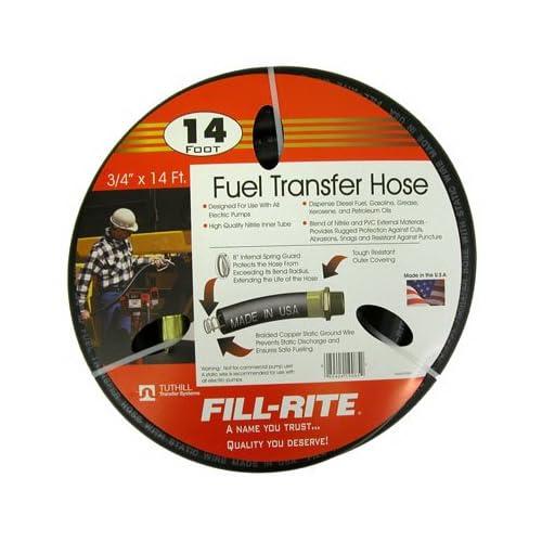 Fill Rite 3/4 x 14 Ft Fuel Tank Transfer Pump Hose